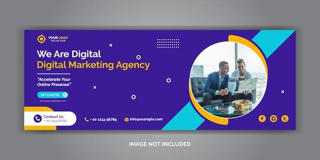 Modello di copertina facebook di social media aziendale di marketing digitale Vettore Premium