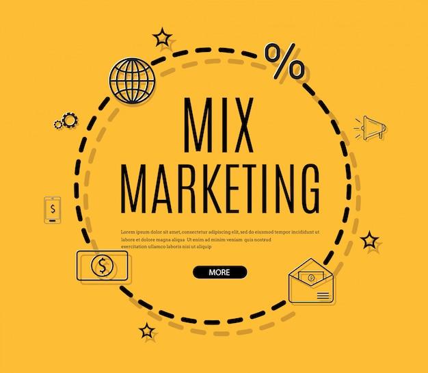 Marketing digitale, e-mail, newsletter e infografica di abbonamento Vettore Premium