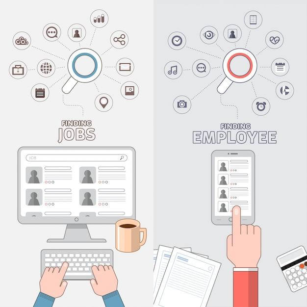 Illustrazioni di marketing digitale Vettore Premium