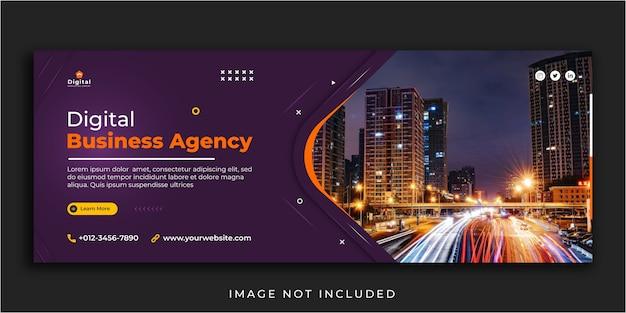 Modello di banner per post sui social media di marketing digitale e copertina di facebook Vettore Premium