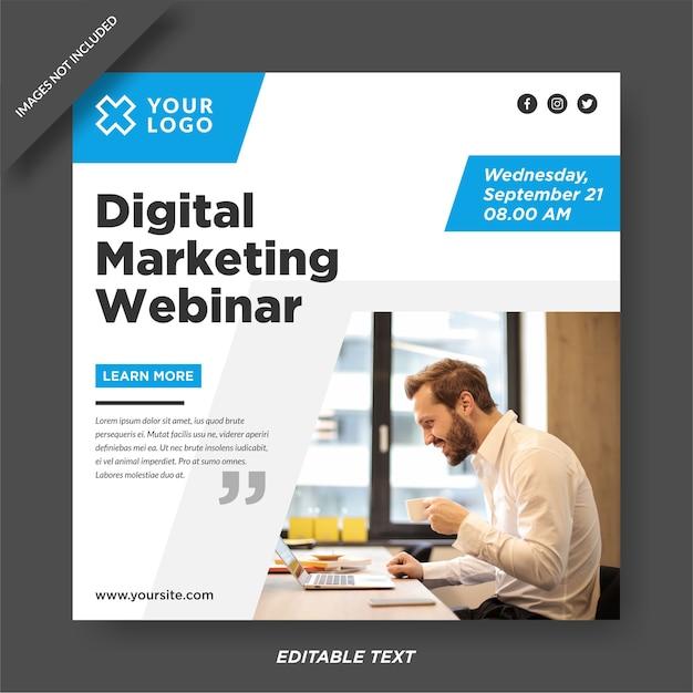 Modello instagram webinar marketing digitale Vettore Premium