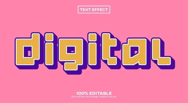 Effetto testo digitale Vettore Premium