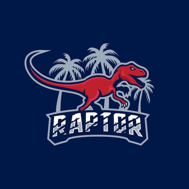 Dinosauro tirannosauro rex logo mascotte Vettore Premium