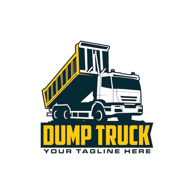 Logo dell'autocarro con cassone ribaltabile Vettore Premium