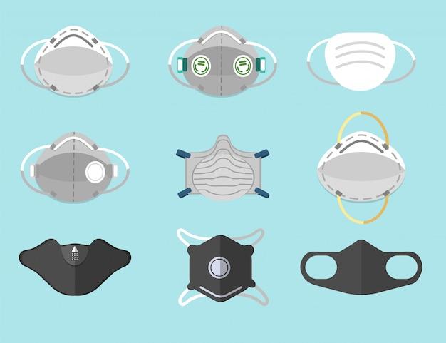 Maschera antipolvere Vettore Premium