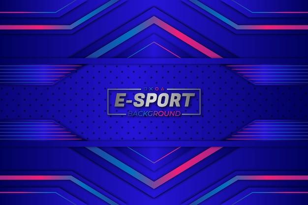 Stile blu del fondo degli e-sport Vettore Premium