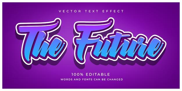 Modificabile l'effetto di testo futuro Vettore Premium