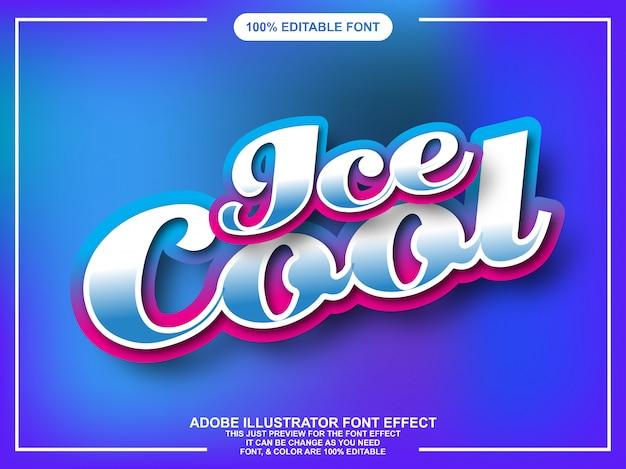 Testo colorato di stile grafico modificabile con effetto lucido Vettore Premium