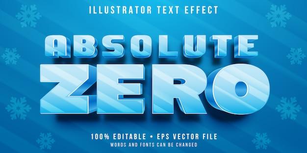 Effetto di testo modificabile - stile lettere congelate Vettore Premium