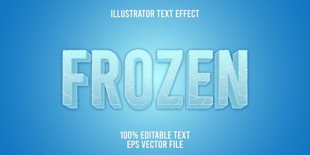Logo congelato effetto testo modificabile Vettore Premium