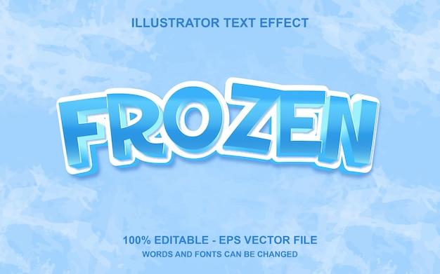 Effetto di testo modificabile frozen Vettore Premium