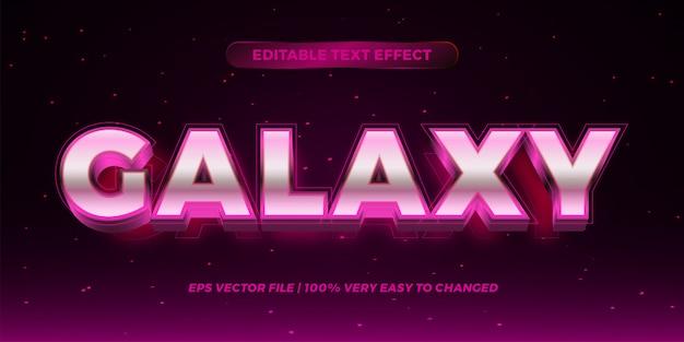 Effetto di testo modificabile - concetto di stile del testo galaxy Vettore Premium