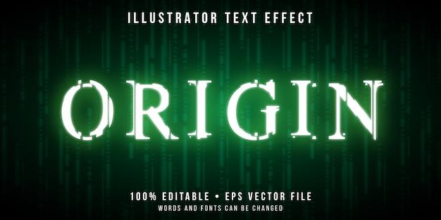 Effetto di testo modificabile - stile codici glitch Vettore Premium