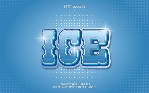 Effetto testo modificabile, effetto ghiaccio Vettore Premium