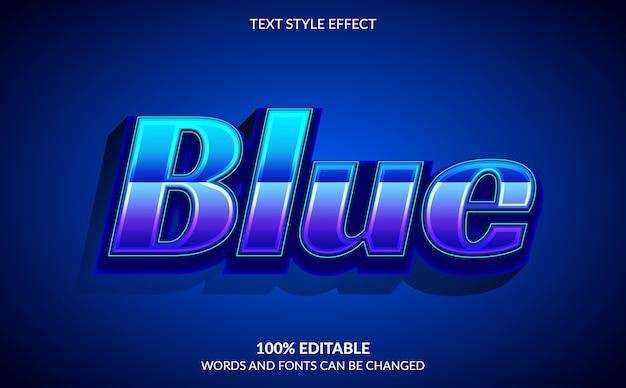 Effetto di testo modificabile, stile di testo blu da corsa Vettore Premium