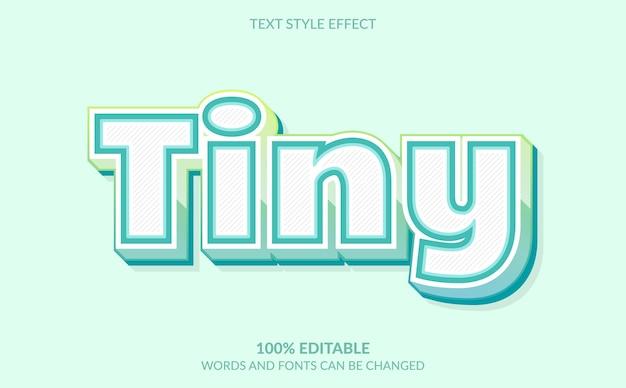 Effetto di testo modificabile, stile di testo minuscolo Vettore Premium