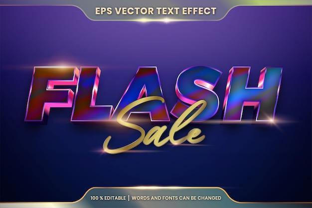 Effetto di testo modificabile con parole in vendita flash Vettore Premium