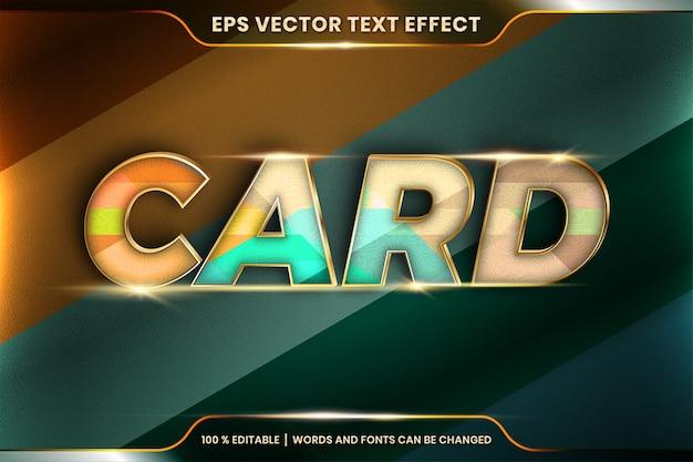 Effetto di testo modificabile con con la parola carta Vettore Premium