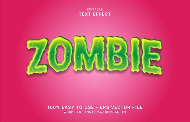Effetto di testo modificabile, stile zombie Vettore Premium