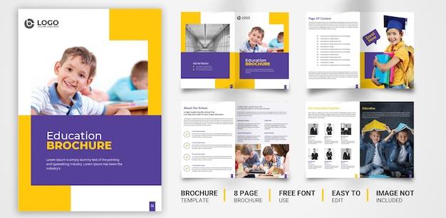 Modello di brochure per l'istruzione premium psd design Vettore Premium