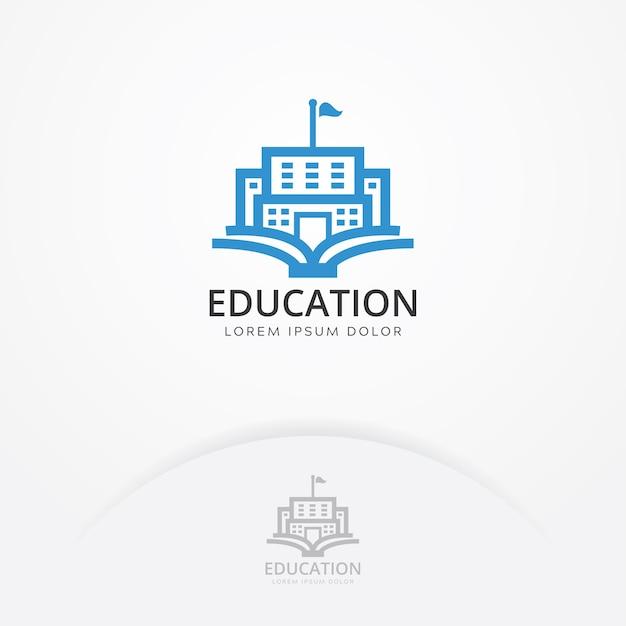 Educazione, costruzione, logo Vettore Premium
