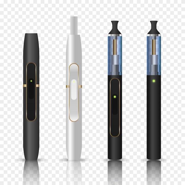 Sigaretta elettronica o dispositivo vaporizzatore. Vettore Premium