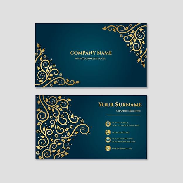 Elegante biglietto da visita Vettore Premium