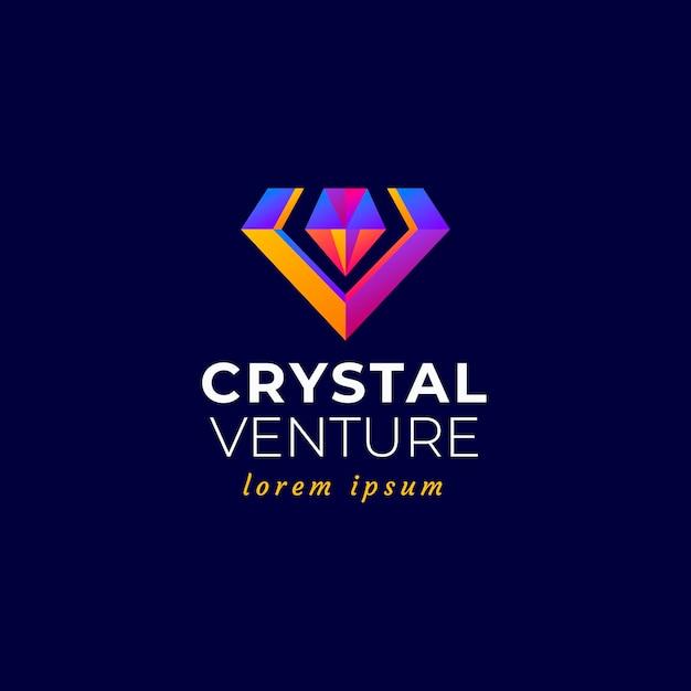 Elegante logo con diamanti Vettore Premium