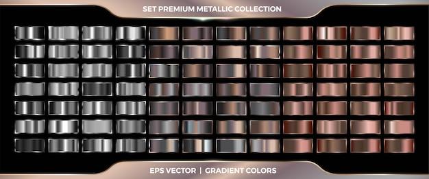 Elegante argento metallizzato e sfumatura bronzo Vettore Premium