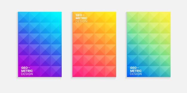 Elegante design minimale della copertina con sfondo sfumato Vettore Premium