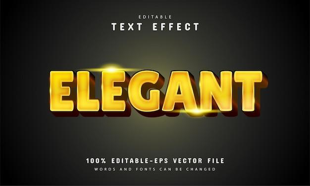 Elegante effetto di testo con colore oro Vettore Premium