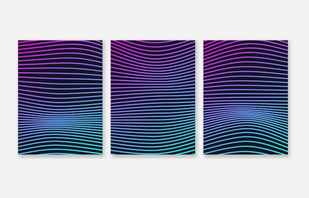 Elementi gradiente linee d'onda per presentazione aziendale Vettore Premium