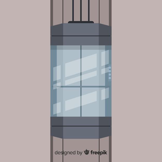 Design ascensore Vettore Premium