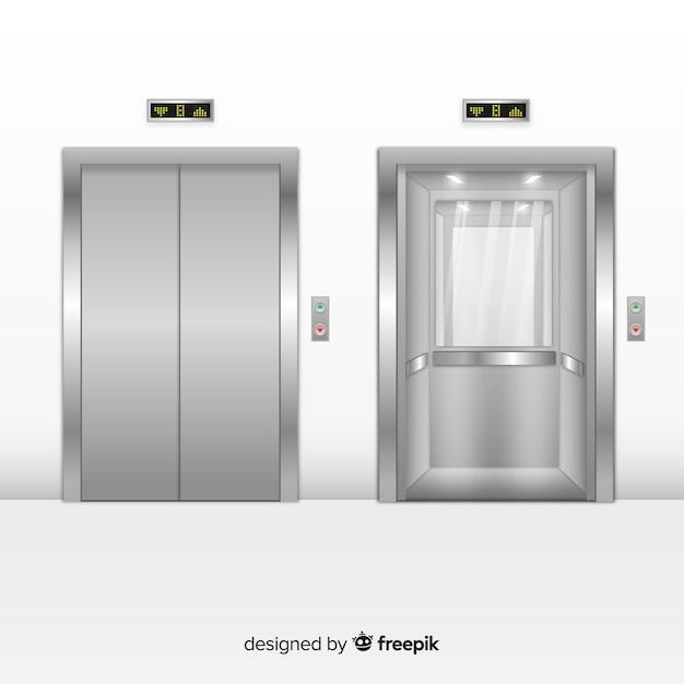 Set di ascensori Vettore Premium