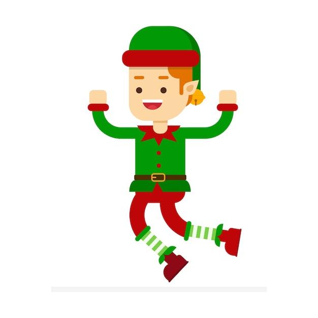 Aiutante Di Babbo Natale.Elfo Piccolo Aiutante Di Babbo Natale Vettore Premium