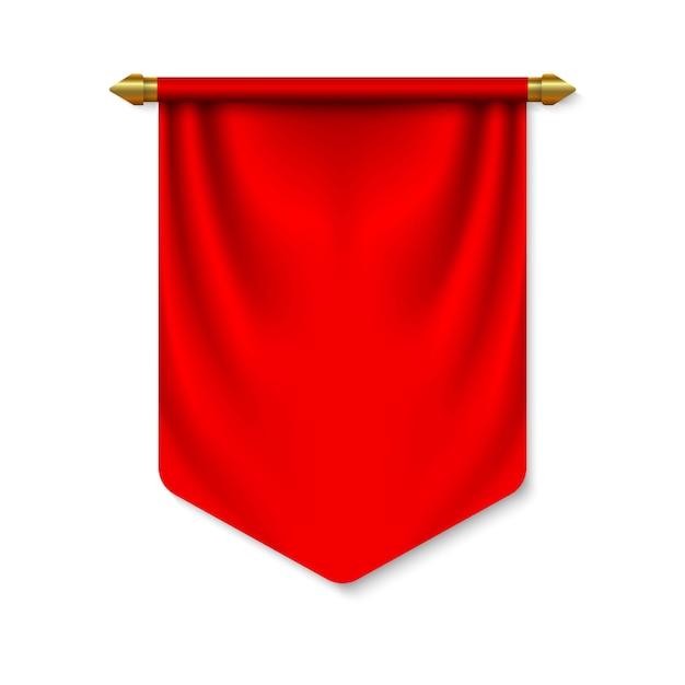 Bandiera 3d pennant vuota Vettore Premium