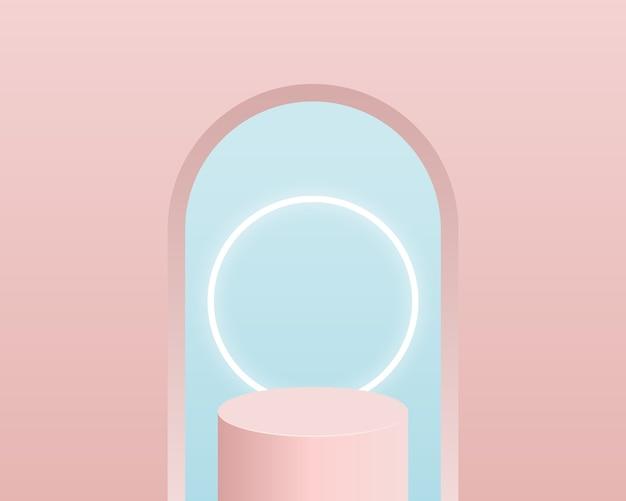 Podio del cilindro vuoto. design per la presentazione del prodotto. Vettore Premium