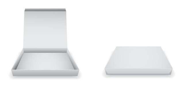 Icona di scatola di pizza di carta vuota Vettore Premium