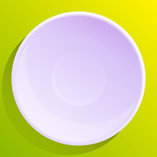 Piatto vuoto sul verde Vettore Premium
