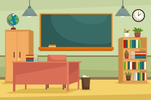 Priorità bassa di conferenza di classe scuola vuota Vettore Premium
