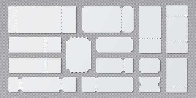 Illustrazione di modelli di biglietto vuoto Vettore Premium
