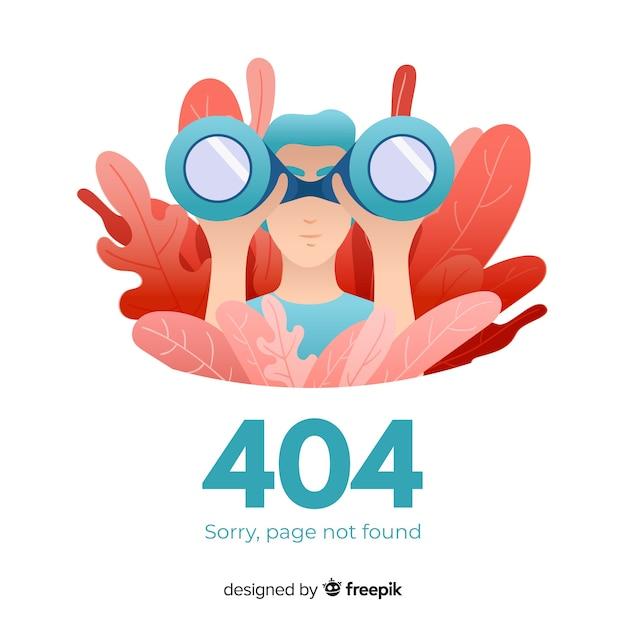 Concetto di errore 404 per la pagina di destinazione Vettore Premium