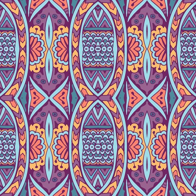 Modello etnico senza soluzione di continuità. sfondo tribale. stile azteco e indiano, stampa vintage. Vettore Premium