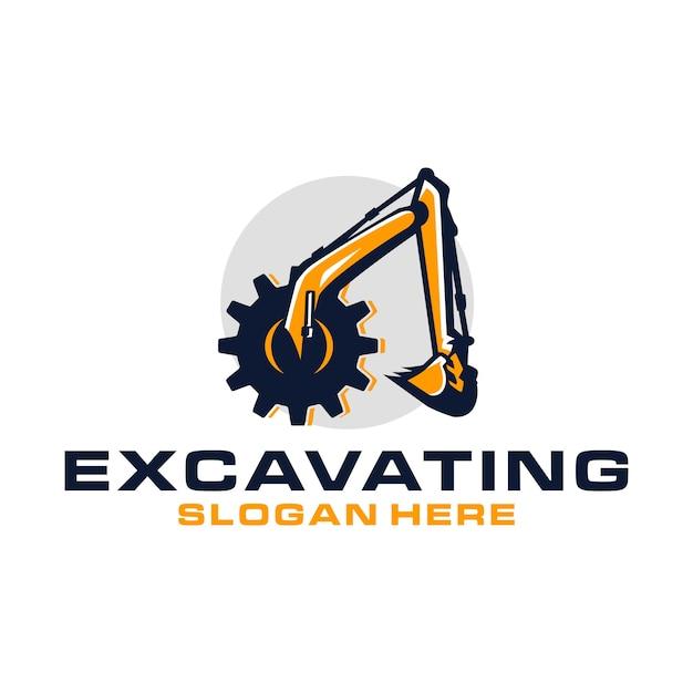 Logo di scavo Vettore Premium