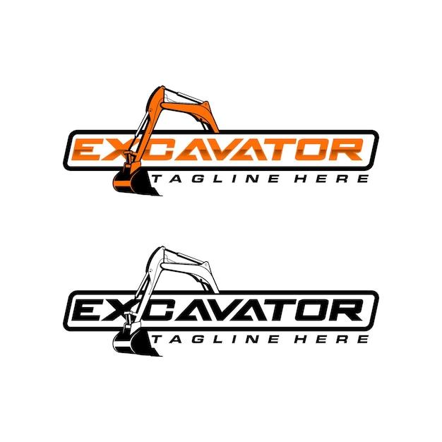 Modello di logo dell'escavatore Vettore Premium