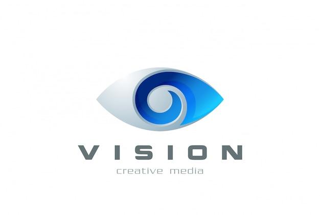 Icona di vettore del logo dell'occhio. Vettore Premium