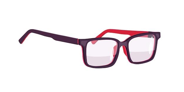 Occhiali. bicchieri. cerchi neri. illustrazione. Vettore Premium