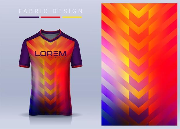 Tessuto in tessuto per maglietta sportiva modello di maglia da calcio per la vista frontale dell'uniforme della squadra di calcio Vettore Premium
