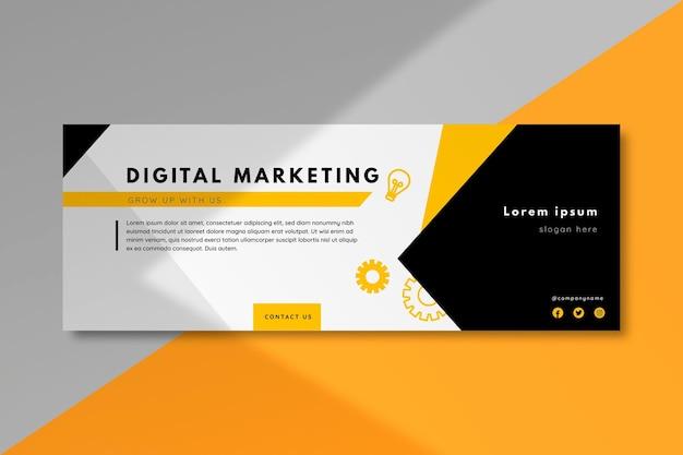 Modello di copertina del marketing di facebook Vettore Premium