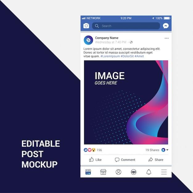 Facebook post mockup Vettore Premium